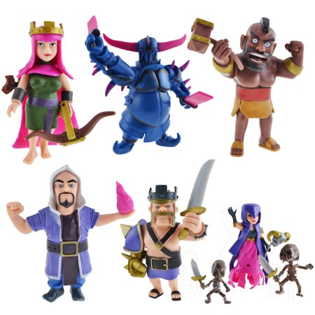 8Pcs Set Figures Supercell Model Clash Royale Hot Phone Game Action Figures Gift