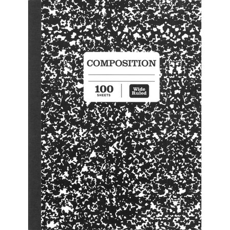 "Pen + Gear Composition Book, Wide Ruled, 100 Pages, 9.75"" x 7.5"""