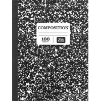 Pen+gear 100 sheets Marble Composition Book Wide Ruled