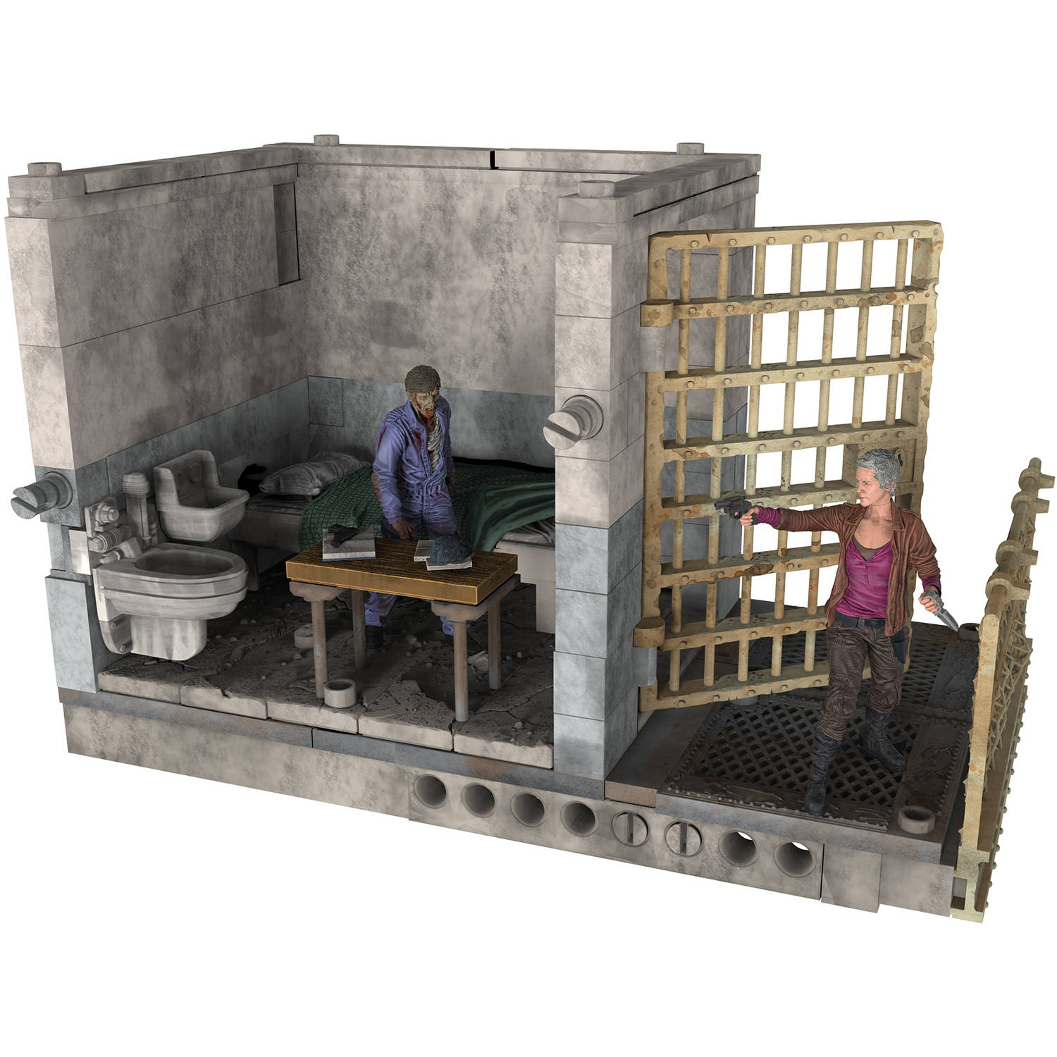 McFarlane Toys The Walking Dead Upper Prison Cell Construction Set