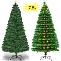 8c2695b7c730 Product Image Zimtown 7.5FT Pre-Lit Artificial Christmas Tree Optical Fiber  7.5 FT with W