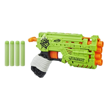 Nerf Zombie Strike Quadrot Blaster, for Kids Ages 8 and Up ()