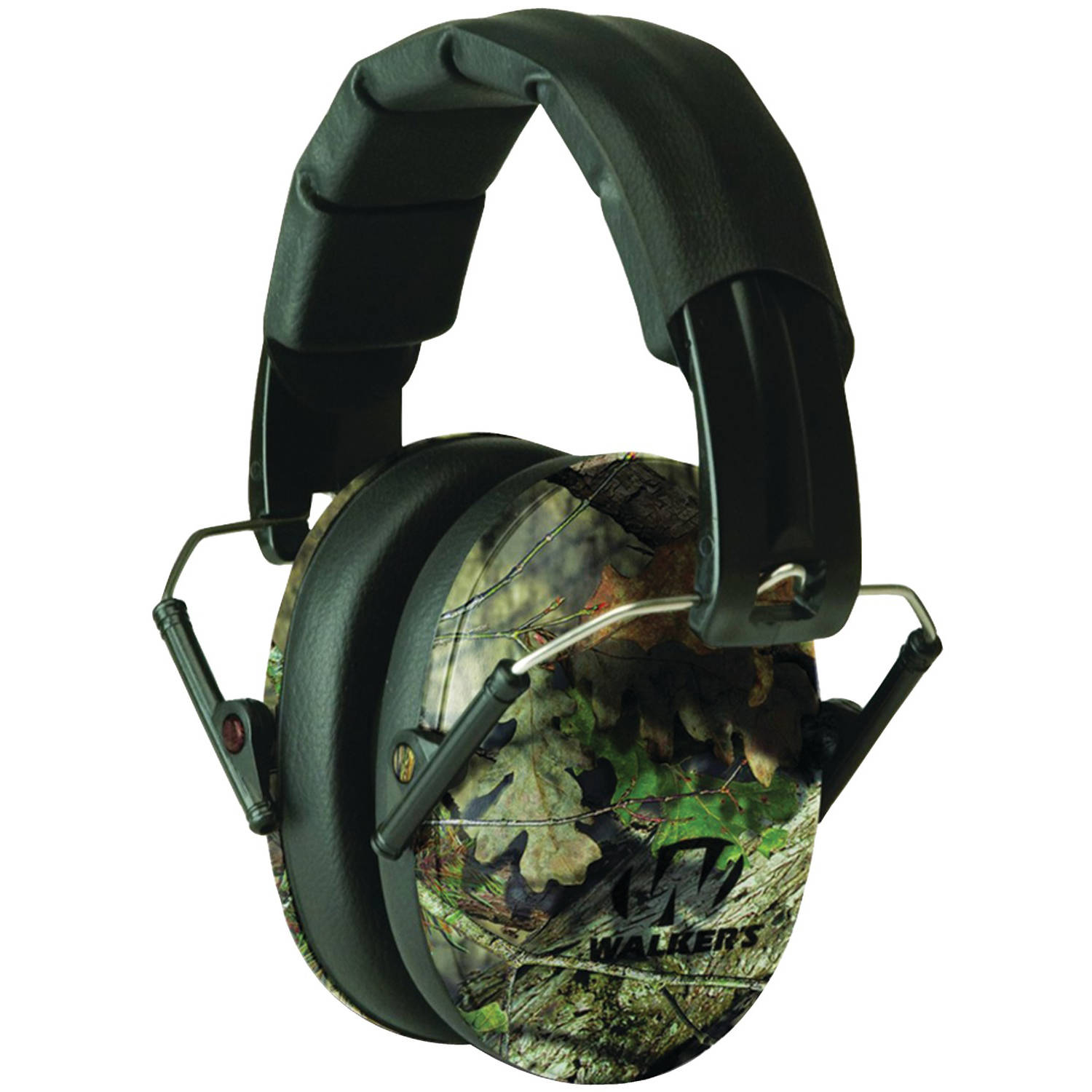 Walker's Game Ear PRO Low-Profile Folding Muff, Pink/Mossy Oak Camo