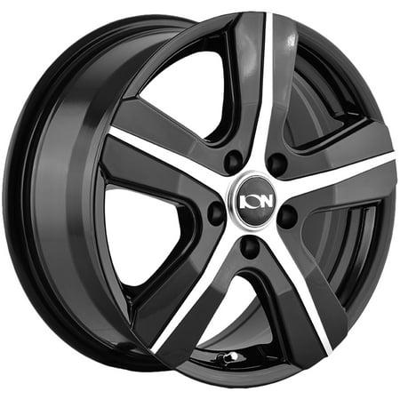 Ion 101 16x6.5 5x108 +50mm Black/Machined Wheel Rim 16