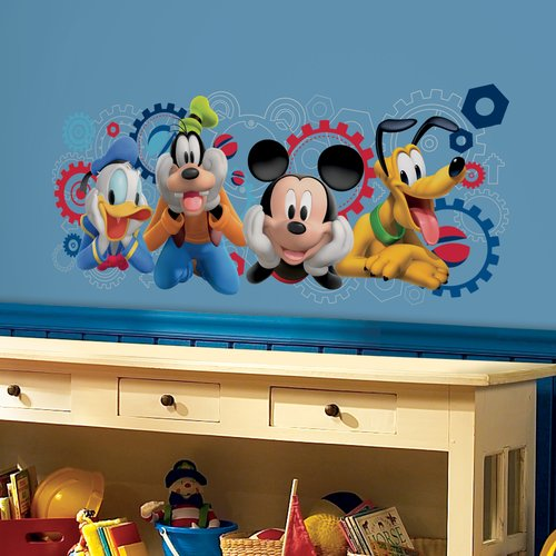 Mickey and Friends Mickey Mouse Clubhouse Capers Peel and Stick Giant Wall Decals