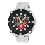 Roberto Bianci  Men's 'Pro Racing' Black Textured Dial Chronograph Watch