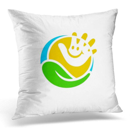 ECCOT Charity Child Care Center Design Kid Pillowcase Pillow Cover Cushion Case 18x18 inch
