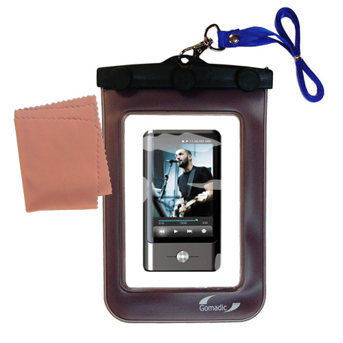 Gomadic Clean and Dry Waterproof Protective Case Suitablefor the Coby MP837 Touchscreen Video MP3 Player to use Underwater