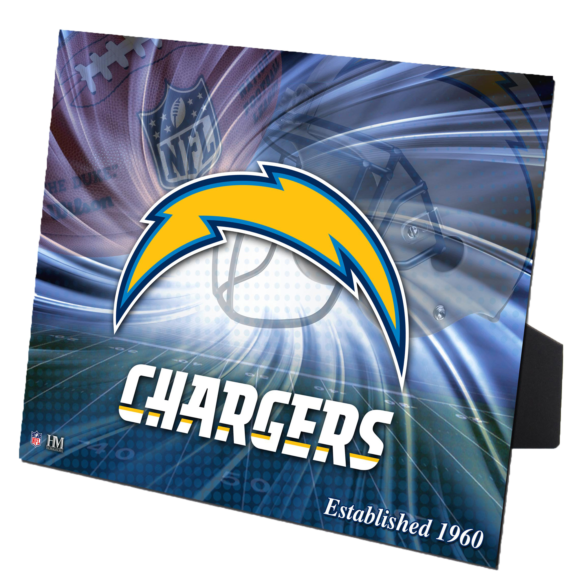 "Los Angeles Chargers Highland Mint 8"" x 10"" PleXart Photo - No Size"