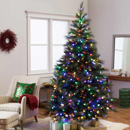 7.5.ft Pre-lit Norway Pine Christmas Tree - Walmart.com