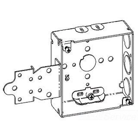 Outlet 22 Overall (Crouse-Hinds TP446 Steel Outlet Box 4 Inch x 4 Inch x 1-1/2 Inch 22 Cubic-Inch)