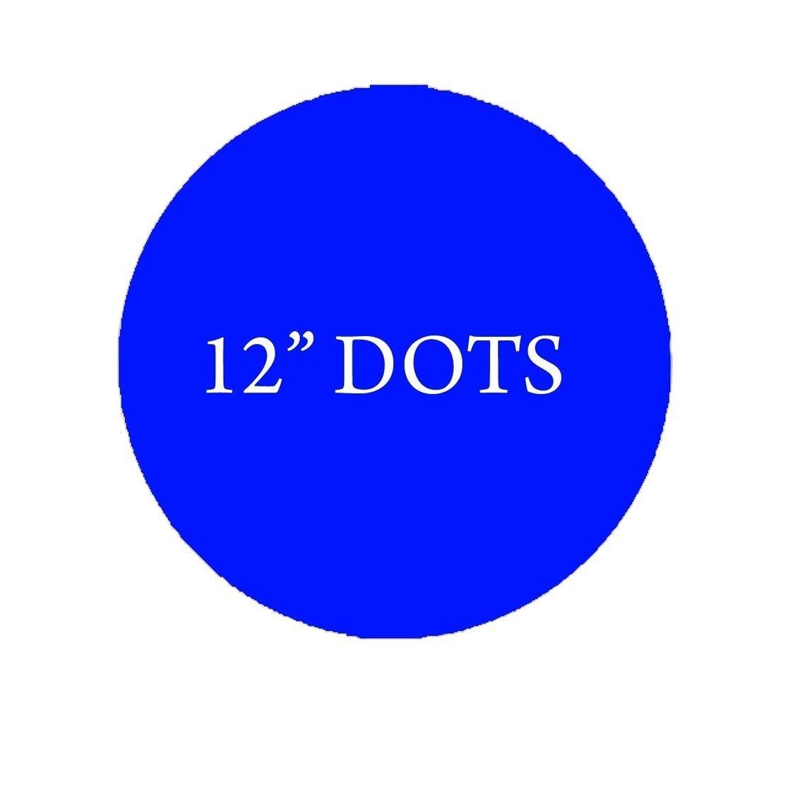 "VWAQ Polka Dots Large Circles Set of (10) Big 12"" Peel & Stick Decal Dots Colors Choice Kids"