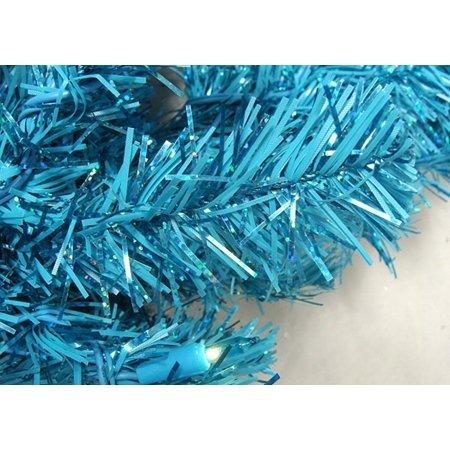 10' illuminée mousseux bleu ciel artificiel Crayon Arbre de Noël - Blue Lights - image 1 de 2