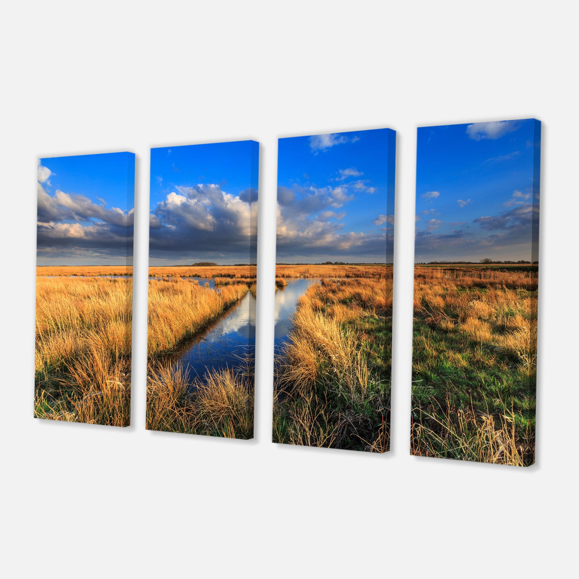 Meadow Land with Beautiful Skyscrapers - Landscape Canvas Art Print - image 2 de 3
