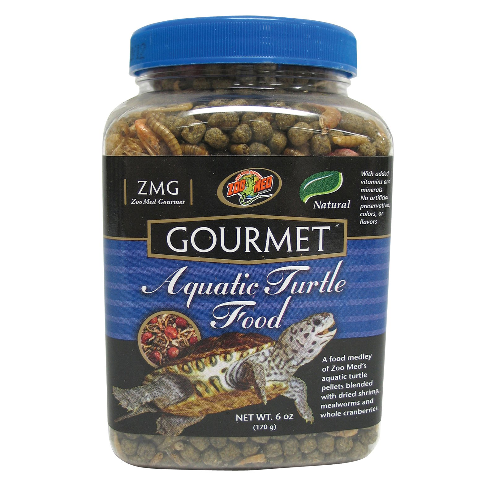 Zoo Med Gourmet Aquatic Turtle Food, 12-Ounce Multi-Colored