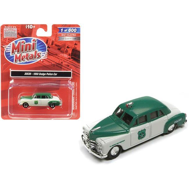 Mini Metals N Scale 1950 Dodge Police Car Set #50382