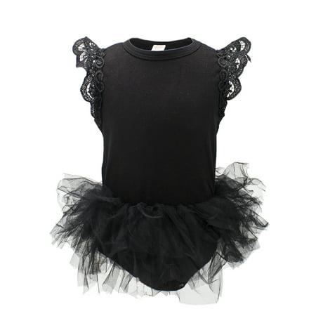 StylesILove Baby Girl Princess Ballet Romper with Tutu Skirt (80/6-12 Months, - Tutu Stores