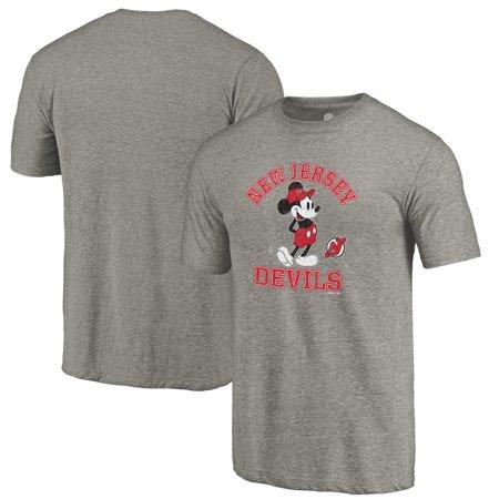 New Jersey Devils Fanatics Branded Disney Tradition Tri-Blend T-Shirt - Heathered Gray
