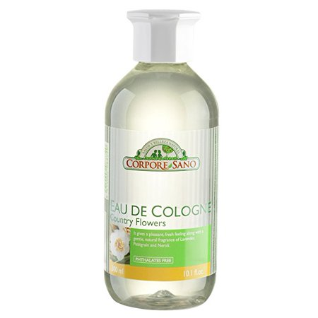 Corpore Sano Eau de Cologne Country Flowers with essential oils-Lavender, Petitgrain & Neroli-Imported from Spain-300 ml/10.1 fl