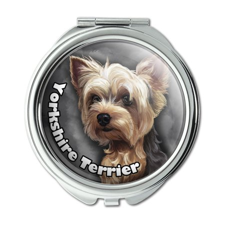 - Yorkshire Terrier Yorkie Dog Pet Compact Purse Mirror
