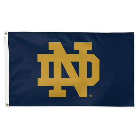 Ncaa Door Flag - Notre Dame Fighting Irish Official NCAA Flag 3x5 Deluxe Banner by Wincraft 411204