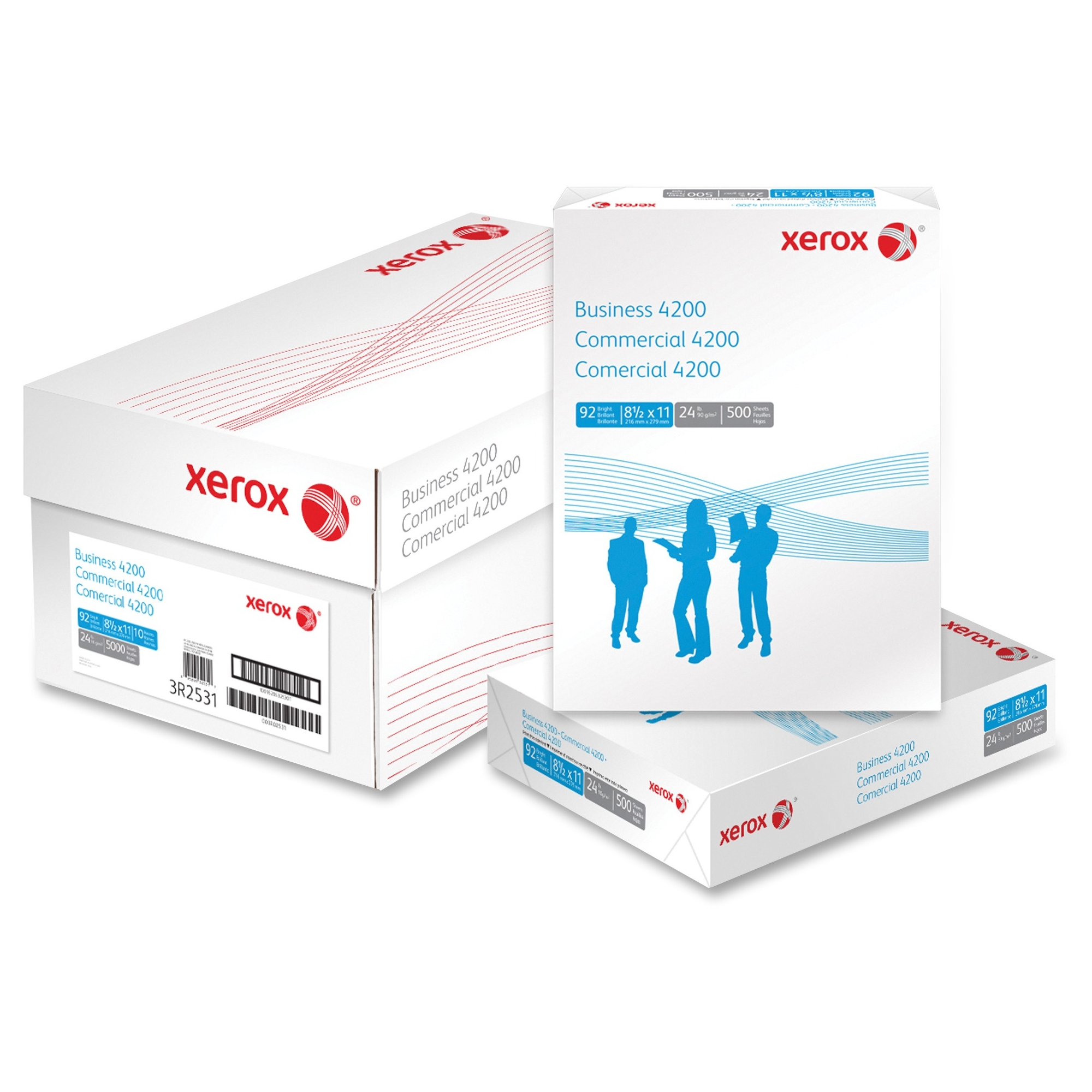 "Xerox Copy & Multipurpose Paper - For Laser, Inkjet Print - Letter - 8.50"" X 11"" - 24 Lb - 92 Brightness - 10 / Carton - White (3r02531)"