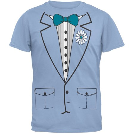 Halloween Blue Leisure Suit Tuxedo T-Shirt - Polyester Leisure Suits
