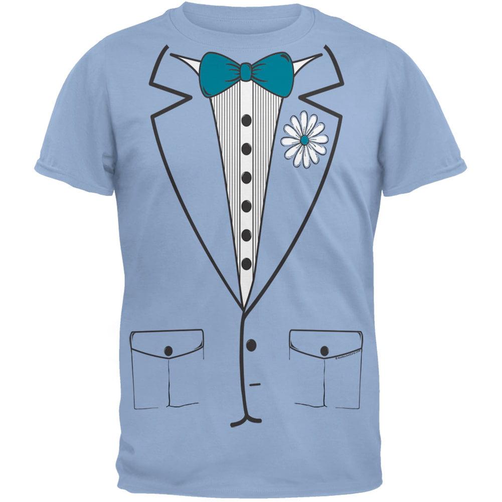 Halloween Blue Leisure Suit Tuxedo T-Shirt