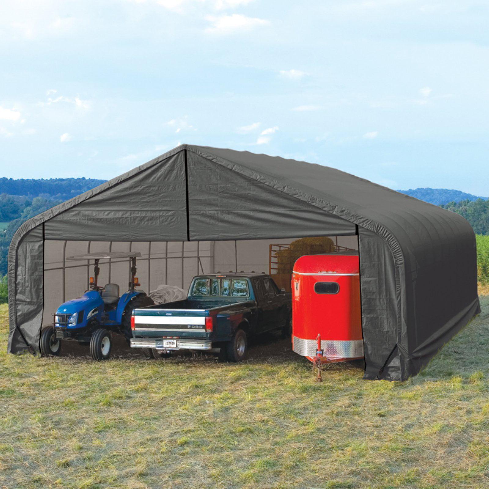 Shelterlogic 28' x 28' x 20' Peak Style Shelter, Green