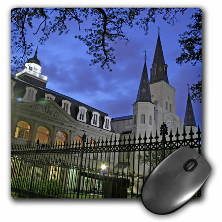 3dRose St. Louis Cathedral, New Orleans, Louisiana - US19 MGI0034 - Mark Gibson, Mouse Pad, 8 by 8 inches