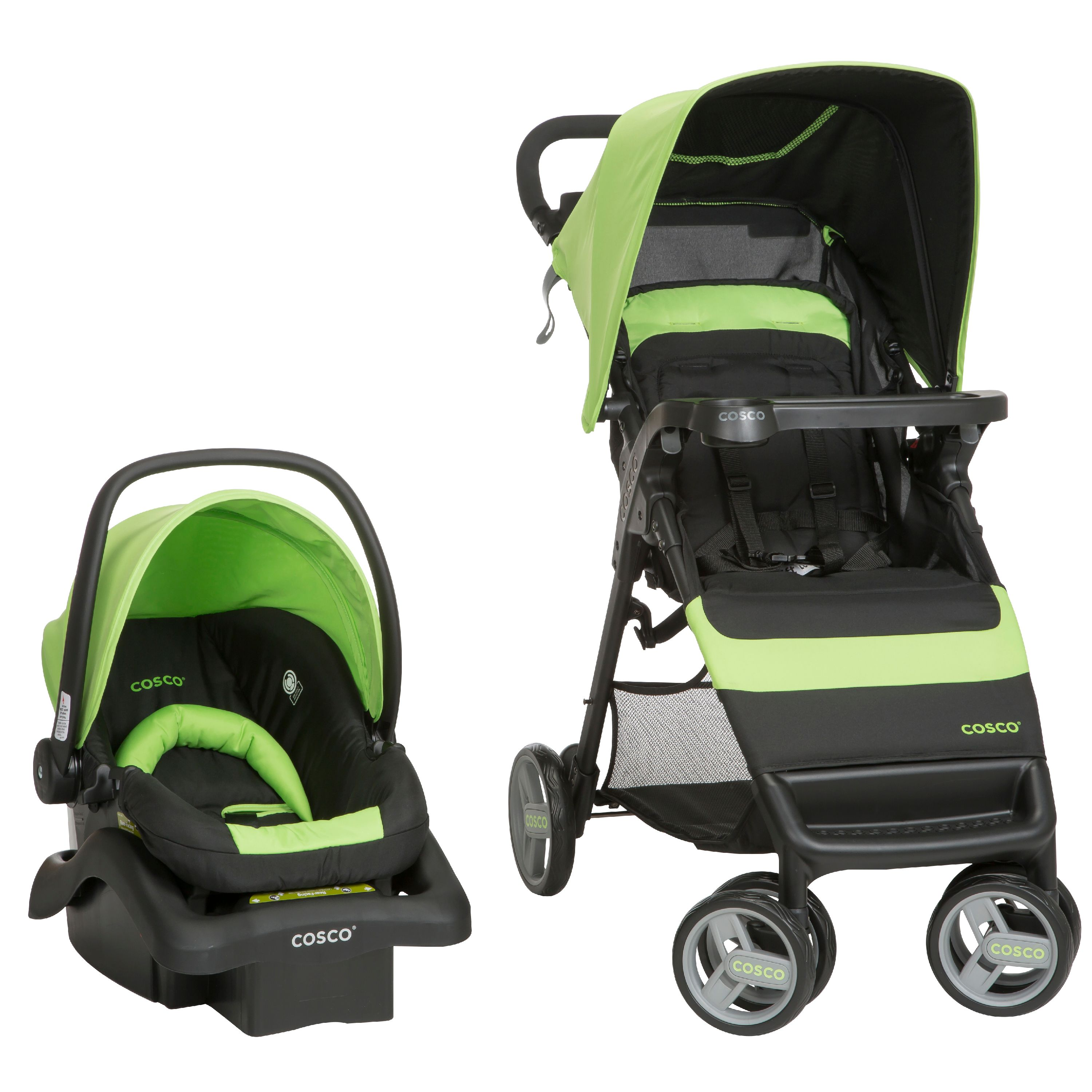 Cosco Simple Fold Travel System, Bright Lime by Cosco