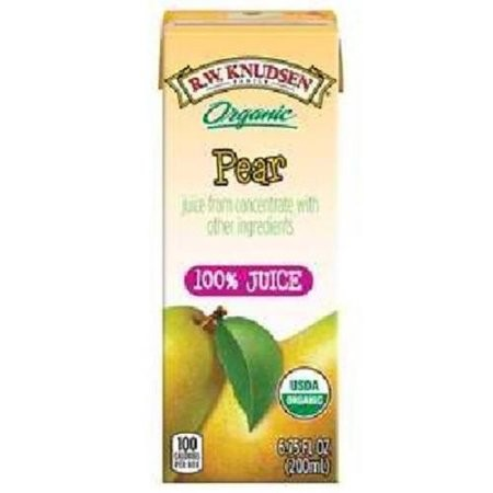 R.W. Knudsen Juice 95% Organic Pear Box 4/6.75Fluid Ounce