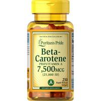 Puritan's Pride Beta-Carotene Provitamin A Softgels, 25,000 IU, 250 Ct