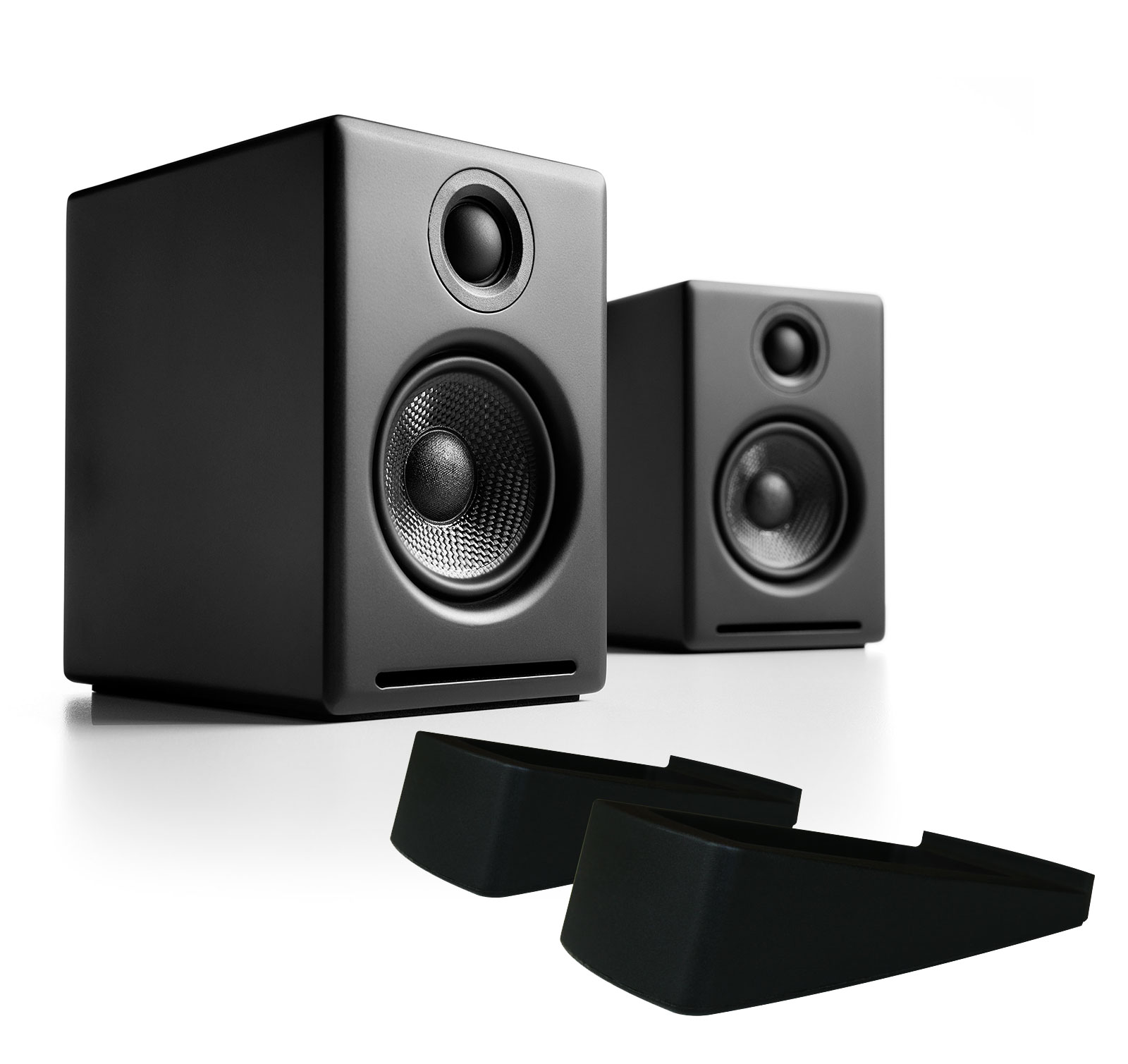 Audioengine A2+ Black (Pr.) with DS1 Stands Powered Speakers w/ Desktop Stands