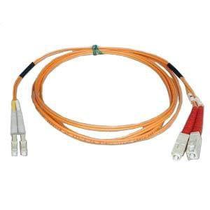 tripp lite n516-02m 2m duplex mmf cable lc/sc 50/125 fiber optic/ fibre channel