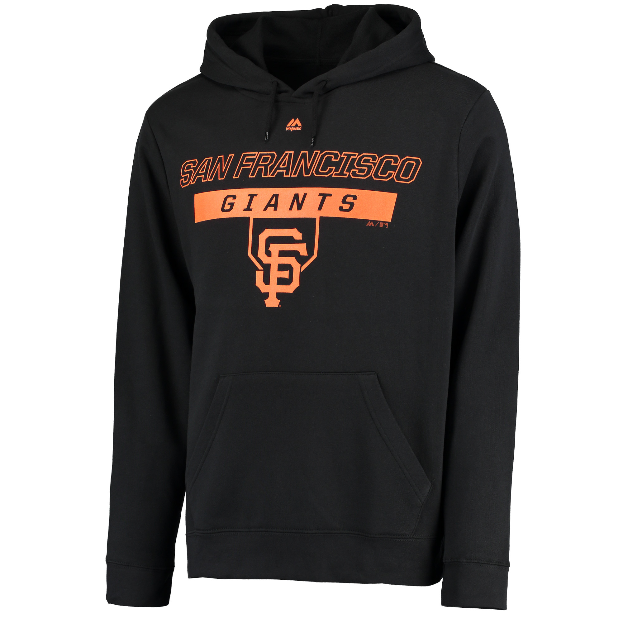 San Francisco Giants Majestic Ready and Able Pop Logo Pullover Hoodie - Black