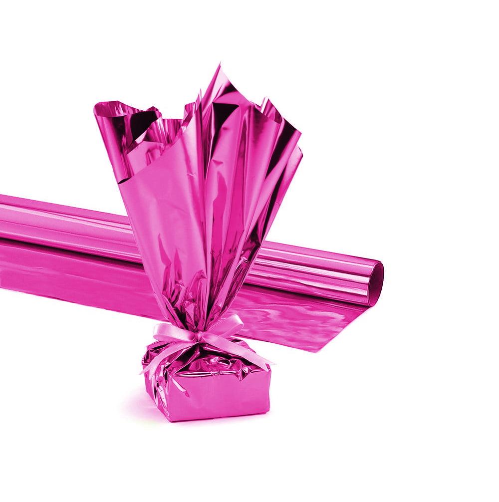 Mylar Gift Wrap Roll, 24 Inches X 8.3 Feet, Metallic Purple Pkg/1