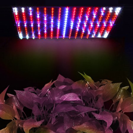 225 LED Grow Light Panel Blue + Red 14 Watt Hydroponic Plant Lamp For Indoor Garden Flowers Vegatables Greenhouse Growing System with Hanging Kit and UV