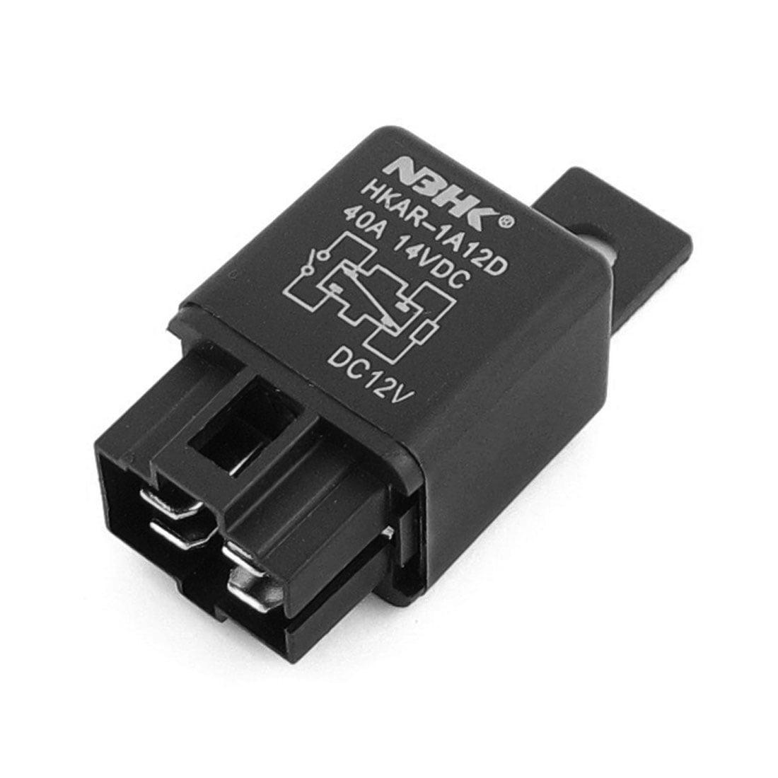 Black Car Automotive Alarm 4 Pin SPDT Relay 40A DC 12V