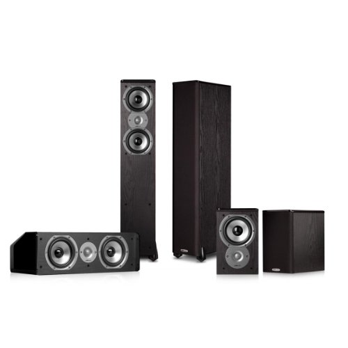Polk Audio TSi300 5.0 Home Theater Speaker Package (Black) by Polk Audio