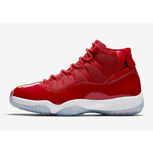 Mens Air Jordan 11 XI Retro Win Like '96 Gym Red Black White 378037-62
