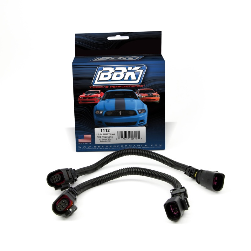 BBK 11-14 Mustang GT Front O2 Sensor Wire Harness Extensions 12 (pair)