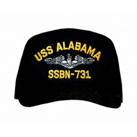 Uss Alabama Submarine (USS Alabama SSBN-731 ( Silver Dolphins ) Submarine Enlisted Cap)