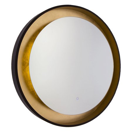 ArtCraft Reflections AM304 Mirror - 31.5 diam. in. Light up your bathroom in modern style with the ArtCraft Reflections AM304 Mirror- 31.5 diam. in. The sleek oil-rubbed bronze and gold leaf mirror radiates an ambient glow with an energy-efficient LED lamp controlled by an on-off switch. Artcraft Since 1955, Artcraft Lighting has operated on the belief that beautiful lighting should be as much about the experience as the light fixtures themselves. And to create that meaningful experience, Artcraft Lighting strives to provide lighting products that are designed to meet your decor, lifestyle, and budget needs - all while ensuring top quality and impeccable customer service. With Artcraft Lighting products, you can reap the benefits of more than 60 years of lighting experience.