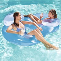 Bestway Double Ring Float Swimming Pool Lounge, 1-Pack