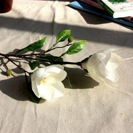 Artificial Magnolia Wedding Flower Silk Artificial Flowers Real-like Home Decor ()