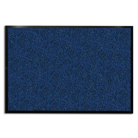 casa pura Entrance Door Mat | Entryway Floor Mat | Highly absorbent & non-slip Indoor & Outdoor Carpet | Blue - 24'' x 36''