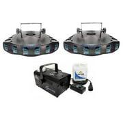 (2) CHAUVET DERBY X RGB DMX Pro DJ Club Effect Strobe Lights + H700 Fog Machine