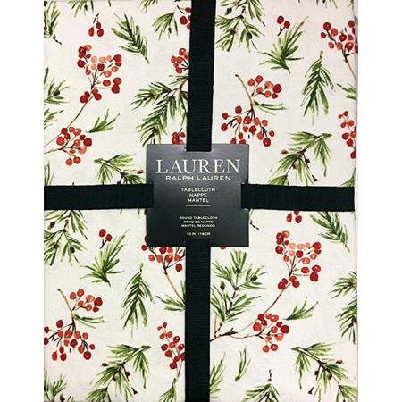 Ralph Lauren Holiday Juniper Berries Cotton Tablecloth | 60