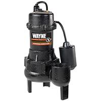 Wayne Rpp50 1/2Hp Cast Iron Sewage Pump Tether Float Switch